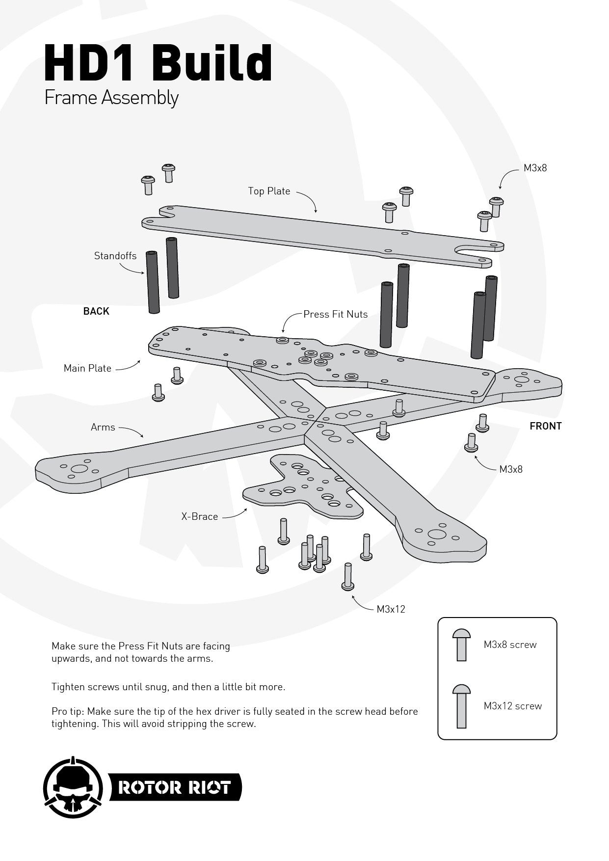HD1 assembly instructions diagram