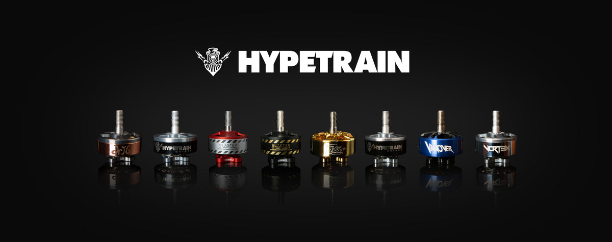 several hypetrain motors and the hypetrain logo
