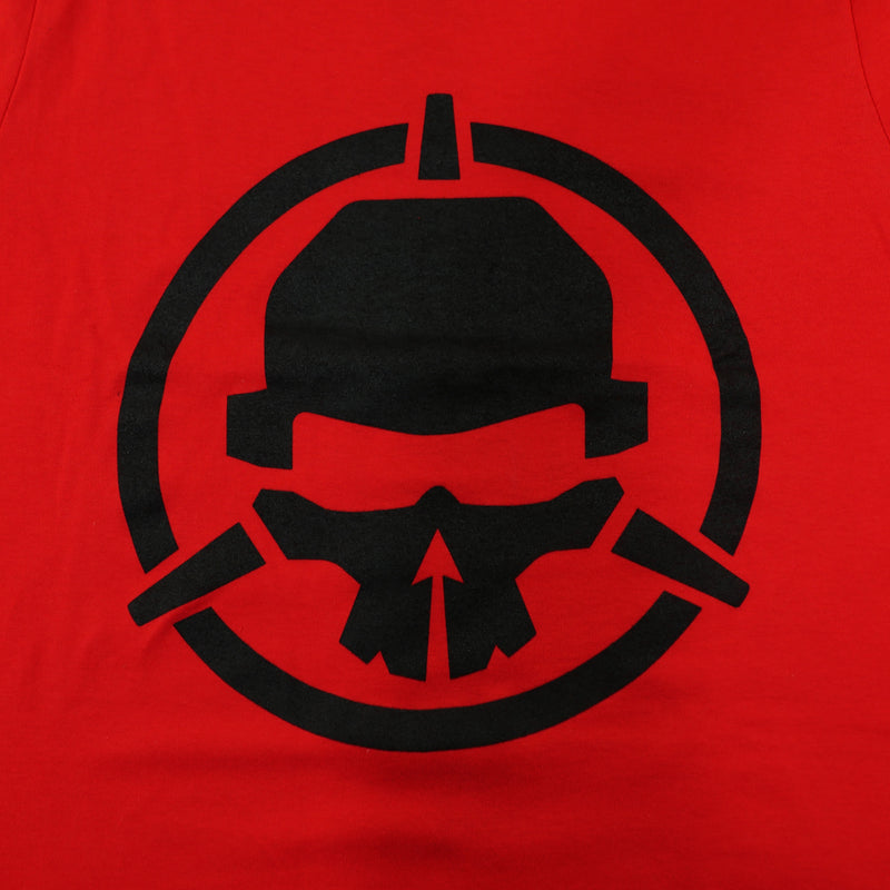 Rotor Riot T-Shirt - Black on Red