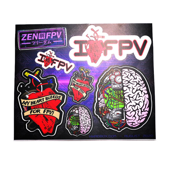 Heart Bleeds for FPV Sticker Sheet
