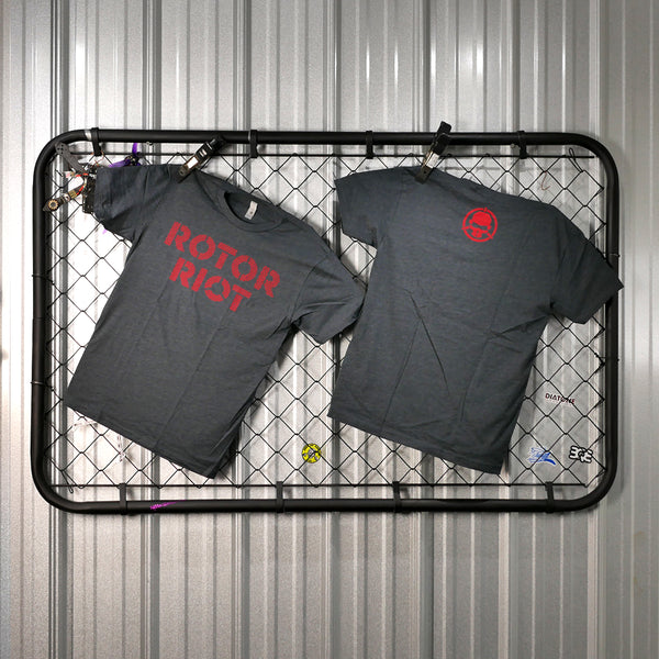 Rotor Riot T Shirt Red Letters