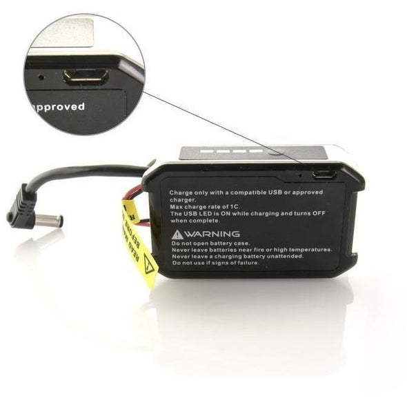 FatShark Goggle Battery with USB Charging and LED Indicator - 1800mah 7.4v - RaceDayQuads