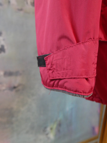 Red Nylon Jacket with Gray Corduroy Collar, 1990s European Vintage Zippered  Sport Jacket: Size 42 - DownShifting Vintage Menswear