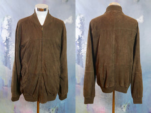 1990s Italian Vintage Brown Suede Jacket: Size 50 US/UK - DownShifting Vintage Menswear