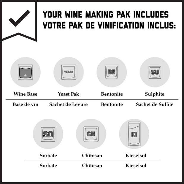 Grenache (Alicante, Châteauneuf-du-Pape) - Red Wine Making Kit (Heavy-Bodied - 13.5% PABV)