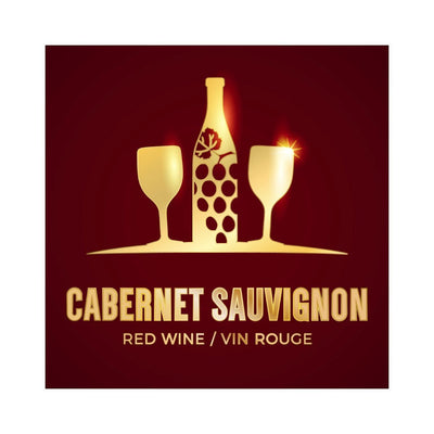 Cabernet Sauvignon Golden Bottle Labels (PK50)