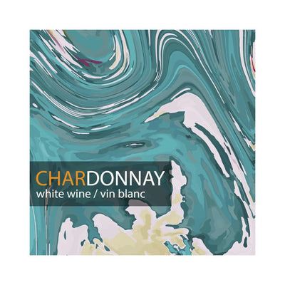 Chardonnay Multi Colour Marble Texture Labels (PK50)