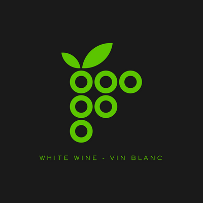 White Modern Grape Cluster Labels (PK50)