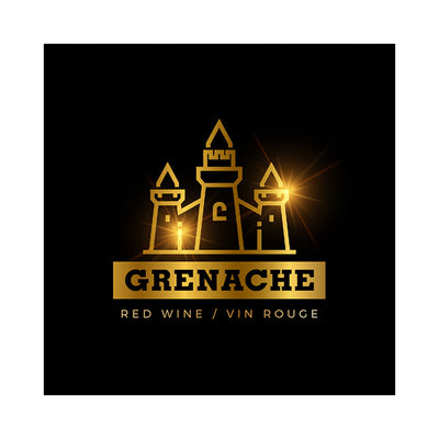 Grenache Medieval Golden Royal Castle Labels (PK50)