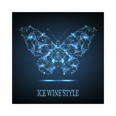 Ice Wine Style Butterfly Dots and Lines Labels (PK50)