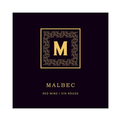 Malbec Golden Monogram Labels (PK50)