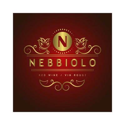 Nebbiolo Golden Monogram Labels (PK50)