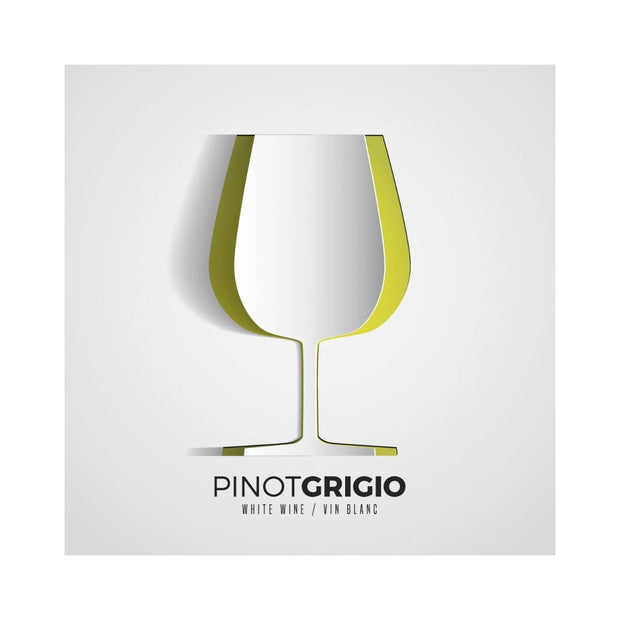 Pinot Grigio Paper Wine Glass Cutout Labels (PK50)