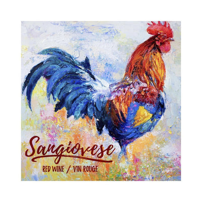 Sangiovese Colourful Rooster Labels (PK50)