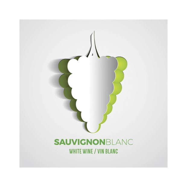 Sauvignon Blanc Paper Grape Cutout Labels (PK50)