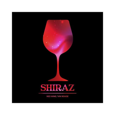 Shiraz Vibrant Disco Red Wine Glass Labels (PK50)