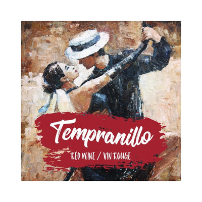 Tempranillo Tango Dancers Oil Painting Labels (PK50)