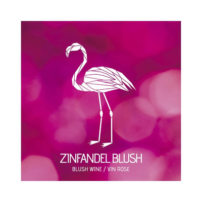 Zinfandel Blush Abstract Flamingo Labels (PK50)