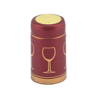 Burgundy/Gold Glass (PK100)*