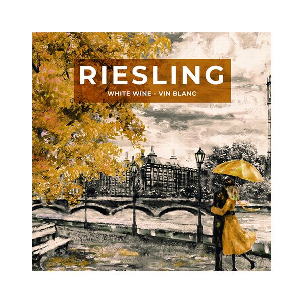 Riesling Street Man and Woman Under Umbrella (PK50)