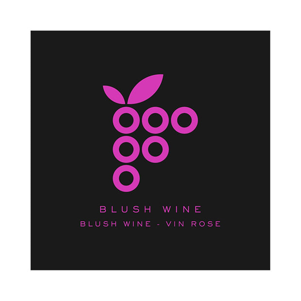 Blush Wine Modern Grape Cluster (PK50)