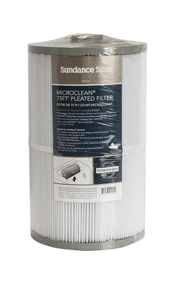 Sundance Spas 6540-501 Microclean 75 Square Foot Pleated Filter Cartridge