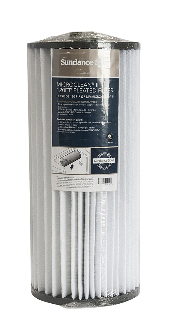 Sundance Spas 6540-507 MicroClean II 120 Sq Ft Pleated Filter Cartridge