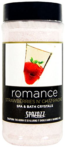 Spazazz Romance Strawberries N' Champagne Spa and Bath Crystals - 17 oz