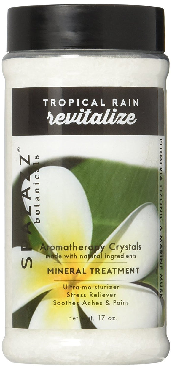 Spazazz Revitalize Tropical Rain Aromatherapy Spa and Bath Crystals - 17 oz