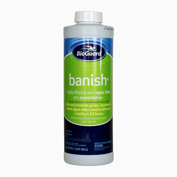 BioGuard Banish Algicide Pool and Hot Tub Algae Killer and Preventative - 1 Quart - HotTubPoolStore