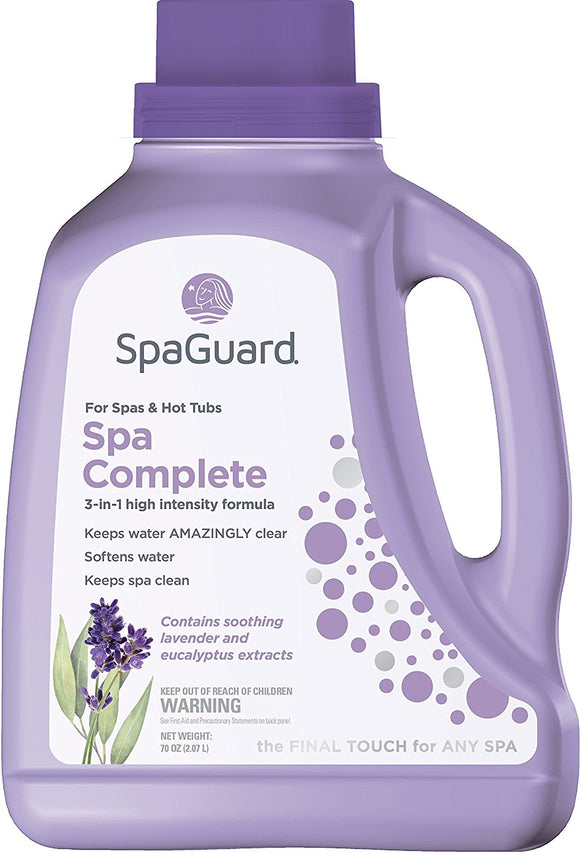 SpaGuard Lavender 3-in-1 High Intensity Formula Spa Complete, 70 oz