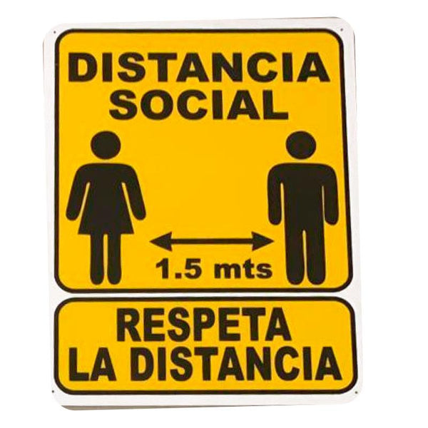 Cartel Distancia Social