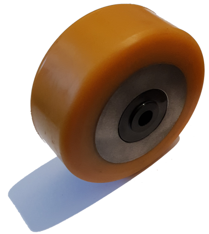 100mm x 40mm x 10mm (42mm Mounting Width) Polyurethane Stabiliser Wheel - Pallet Trucks Direct
