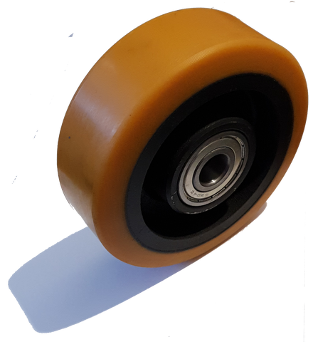 150mm x 50mm x 20mm (50mm Mounting Width) Polyurethane Stabiliser Wheel - Pallet Trucks Direct