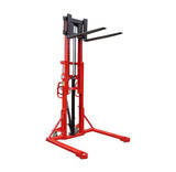 Lift Mate KI1000SA - 1600mm Lift Height Manual Straddle Pallet Stacker - Pallet Trucks Direct