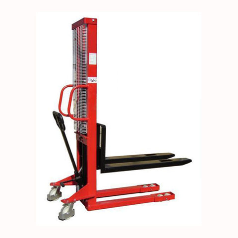 Lift Mate KI1000 - 1200mm Lift Height Manual Wrap Over Pallet Stacker - Pallet Trucks Direct