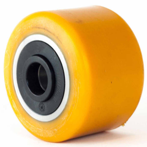 85mm x 80mm x 17mm (82mm Mounting Width) Polyurethane Load Roller Wheel - Pallet Trucks Direct