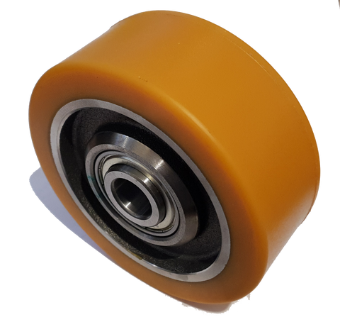 125mm x 50mm x 20mm (55mm Mounting Width) Polyurethane Stabiliser Wheel - Pallet Trucks Direct