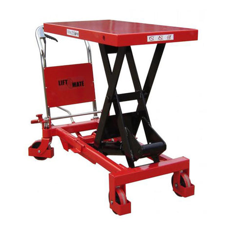 Lift Mate TXL1000 - 1000kg Mobile Single Scissor Lift Table - Pallet Trucks Direct