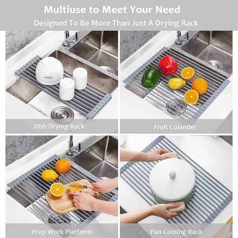 cartweez roll up dish drying rack
