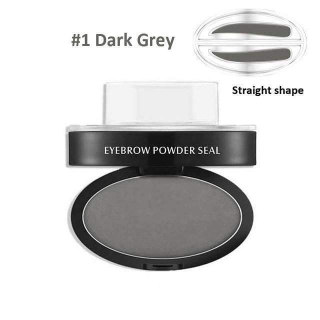 trendyholo.com Health & Beauty Dark Grey Straight Eyebrow Stamp