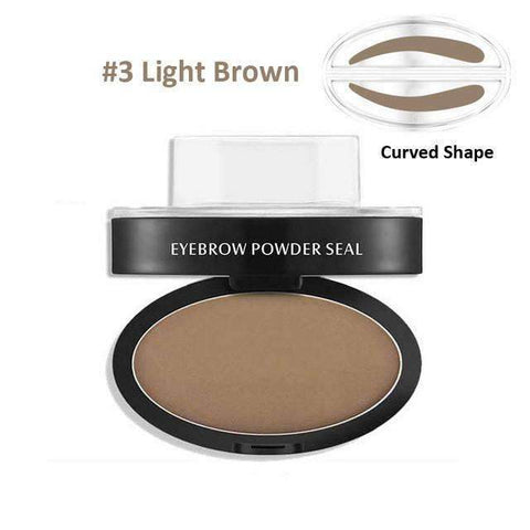 trendyholo.com Health & Beauty Light Brown Curved Eyebrow Stamp
