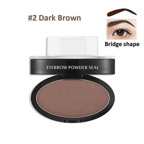 trendyholo.com Health & Beauty Dark Brown Arch Eyebrow Stamp