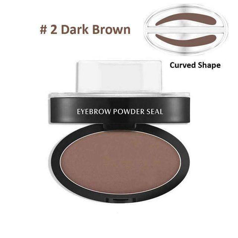 trendyholo.com Health & Beauty Dark Brown Curved Eyebrow Stamp