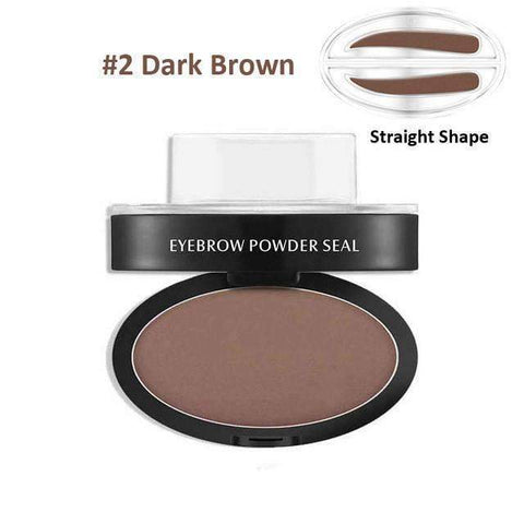 trendyholo.com Health & Beauty Dark Brown Straight Eyebrow Stamp