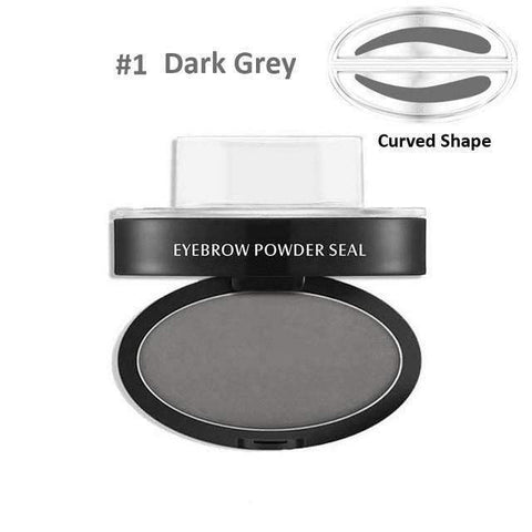 Image of trendyholo.com Health & Beauty Dark Grey Curved Eyebrow Stamp
