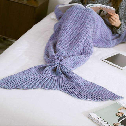 trendyholo.com BEST SELLER PURPLE / 35X67 INCHES (((MOST POPULAR))) HANDMADE MERMAID SNUGGLE BLANKET