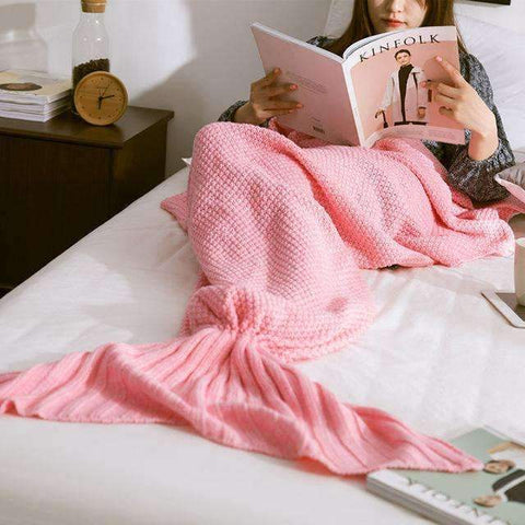 trendyholo.com BEST SELLER PINK / 35X67 INCHES (((MOST POPULAR))) HANDMADE MERMAID SNUGGLE BLANKET