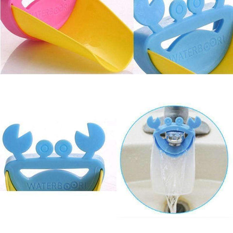 trendyholo.com blue and yellow Kids Washing Hands Extender