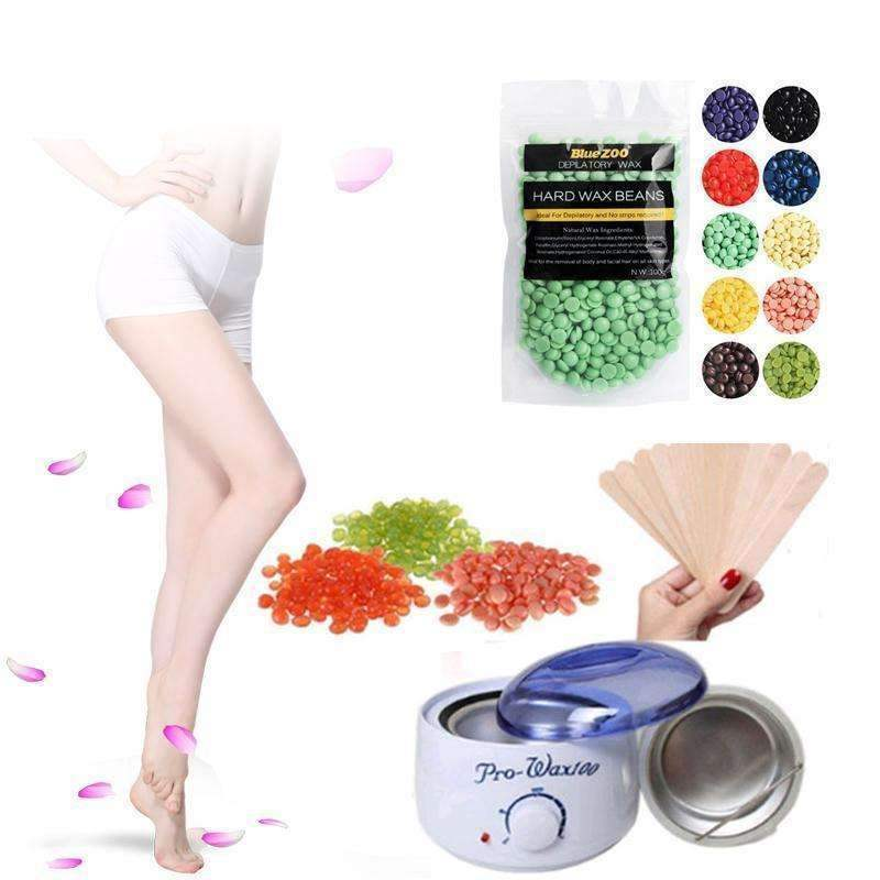 trendyholo.com Chamomile / US Plug Not Painful Warm Wax Hair Removal Kit